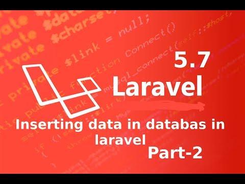 inserting data in laravel 5 7 || raw sql queries in laravel part 2 ||  laravel master