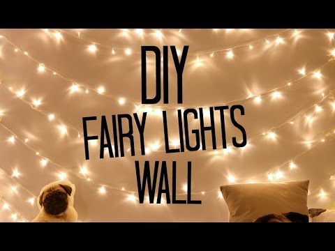 DIY Fairy Light Wall! | sophdoesnails