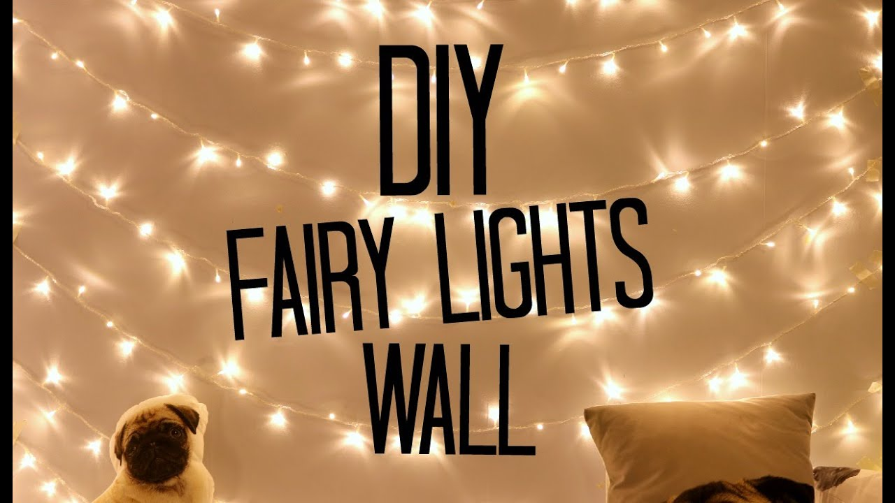 Diy fairy light wall sophdoesnails youtube for How to light up a room