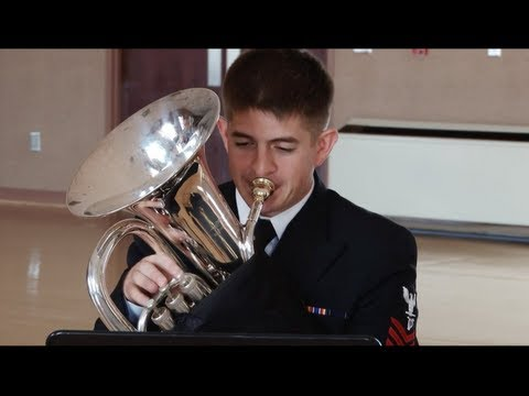 """Navy Band Brass Quartet - """"When Johnny Comes Marching Home"""""""