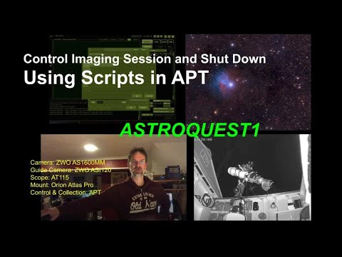 Control Imaging Session and Shut Down - Using Scripts in APT