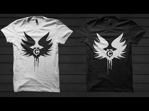 Drawing Simple Tshirt Design Idea in Coreldraw - YouTube