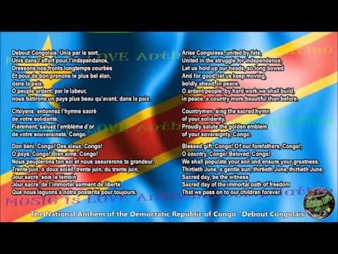Congo Democratic Republic National Anthem with music, vocal and lyrics French w/English Translation