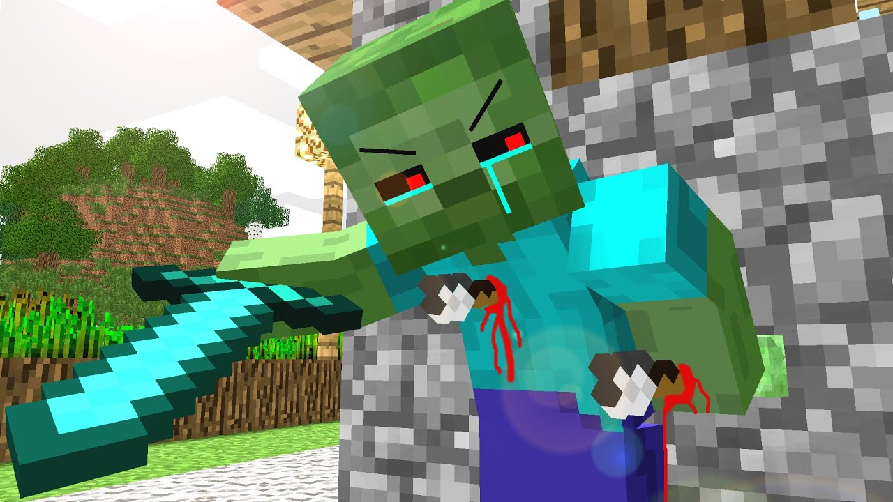 Zombie Life Craftronix Minecraft Animation Youtube
