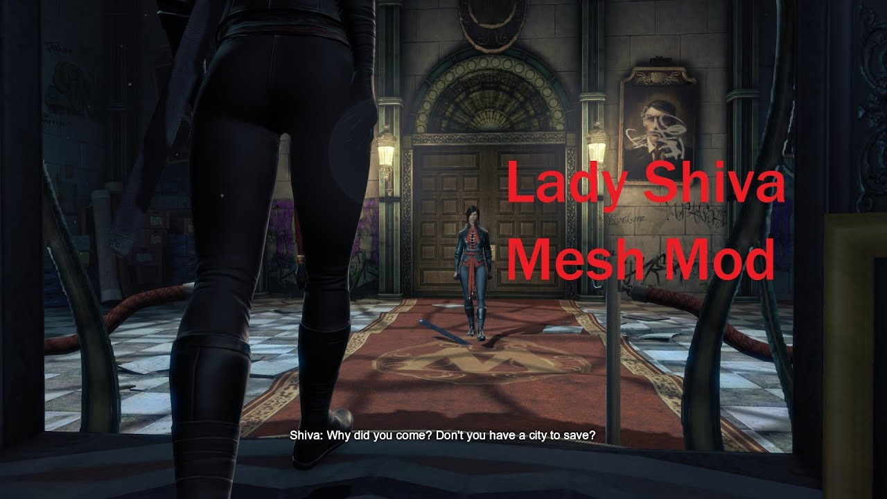 Batman Arkham Origins Lady Shiva Mesh Mod