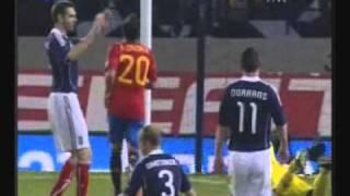 Scotland 2-3 Spain- All Goals- 12/10/10