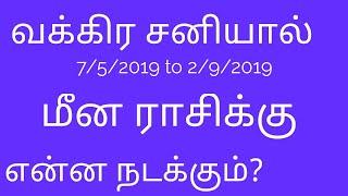2019 May Sani Vakra Palangal Meena Rasi