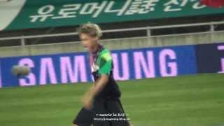 130814 국대평가전 축하공연 EXO 늑대와 미녀 카이 KAI Focus