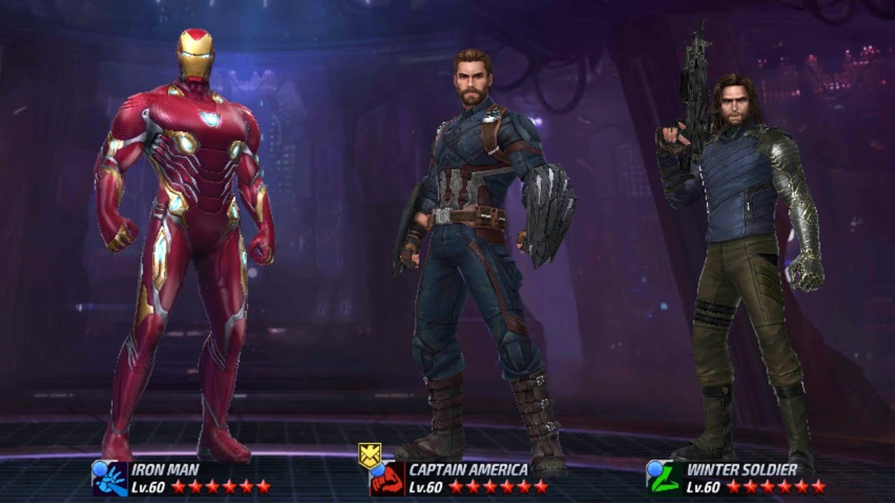 building iron man cap america and winter soldier with infinity war