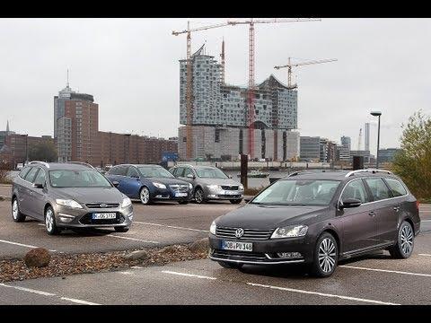 Opel Insignia, Ford Mondeo, VW Passat, Skoda Superb Wettstreit der Kombi Klassiker