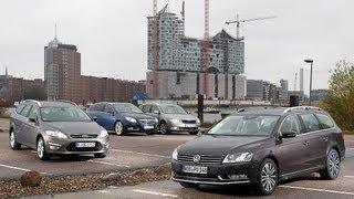 Opel Insignia, Ford Mondeo, VW Passat, Skoda Superb - Wettstreit der Kombi-Klassiker