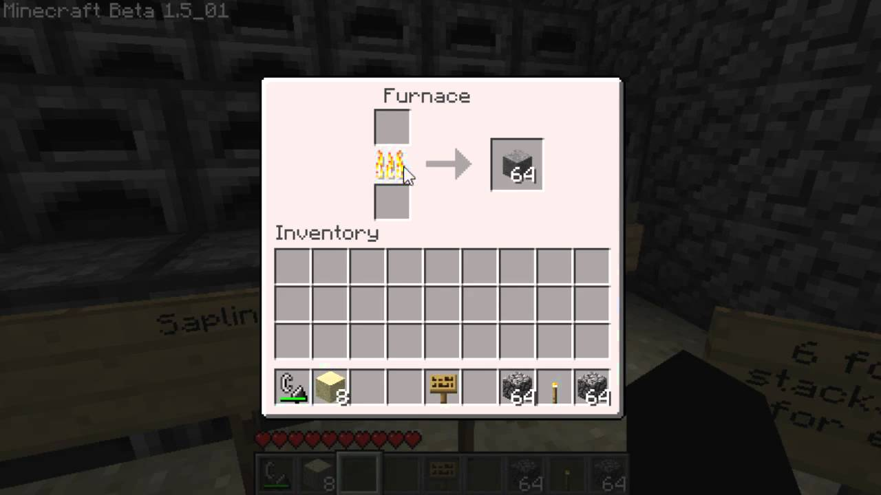Minecraft Furnace Fuel Review: Cobblestone - YouTube