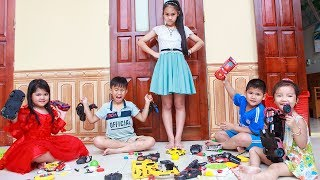 Kids Go To School | Chuns With Best Friends Play The Creativity With Toys