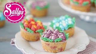 Tulpen Cupcakes / Blumenstrauß Muffins