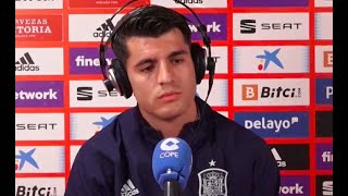 """Álvaro Morata: """"Ojalá la gente se pusiera en el lugar de que te digan 'que se mueran tus hijos'"""""""