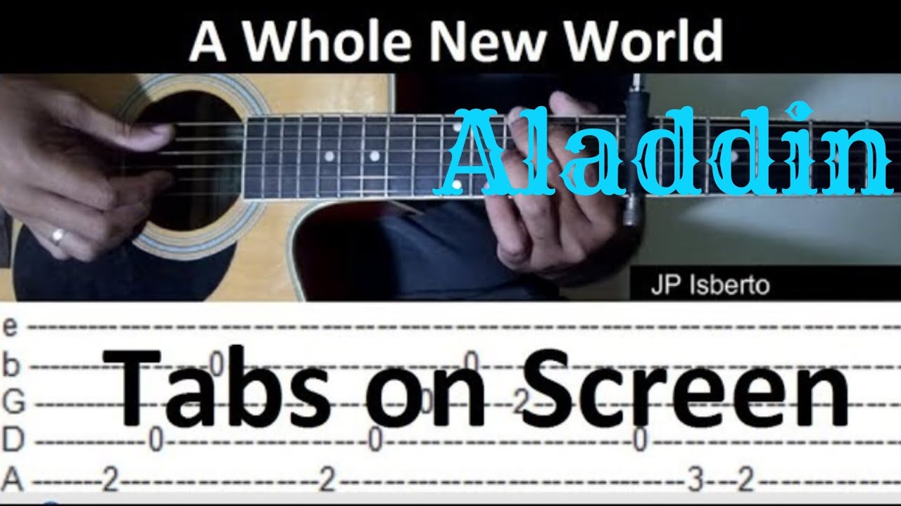 A whole new world chords