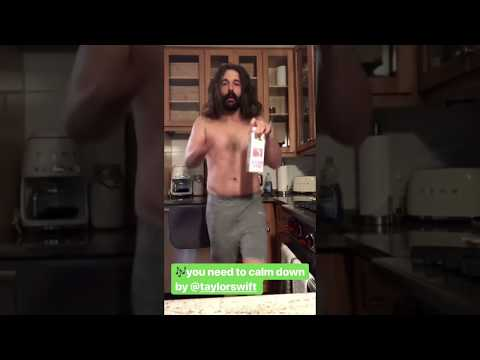 Jonathan Van Ness dancing to You Need To Calm Down by Taylor Swift