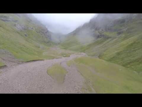 drone at the lost valley Glen Coe Scotland