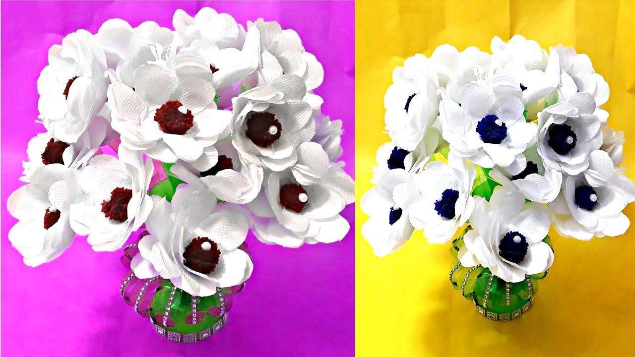 Tissu Paper Flower Pot Diy Napkin Guldasta