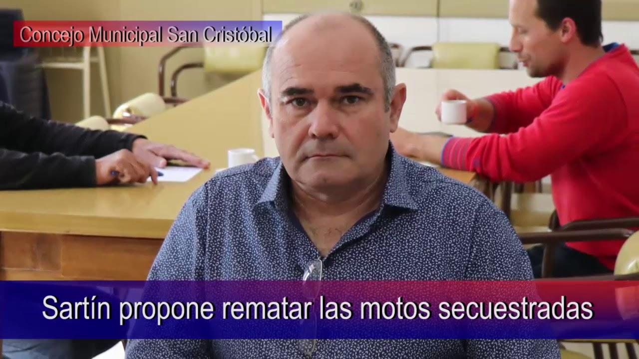 Sartín propone rematar las motos secuestradas
