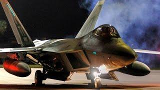 F 22 Raptors Night Launch – Deployment To Europe