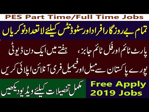 PES Part Time And Full Time Jobs 2019- Free Online Apply All Pakistan-Marketing Jobs Student_Tips