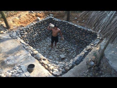 Primitive Life:Stone-Swimming Pool-part1!
