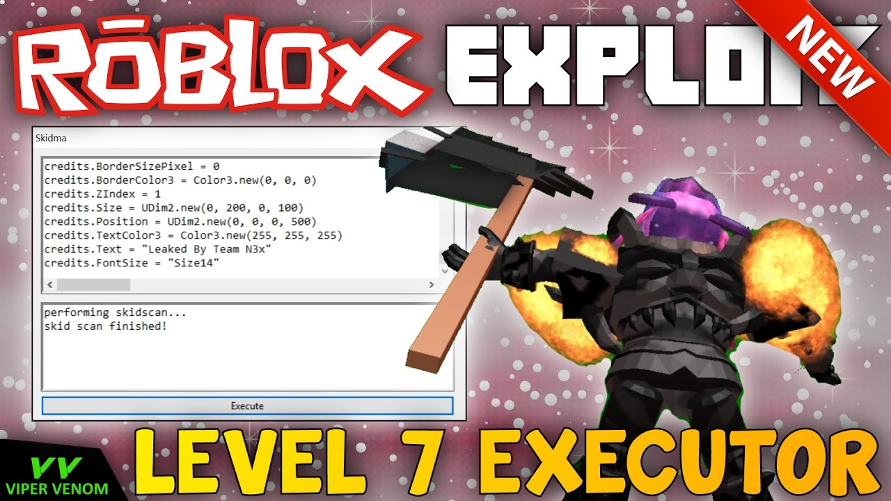 New Roblox Exploit Skidma Patched Level 7 Script