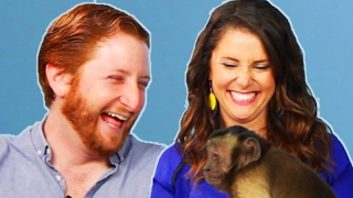 Monkey Lover Gets Surprised By A Monkey