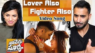 Lover Also Fighter Also Full Video Song | Naa Peru Surya Naa Illu India | Allu Arjun | REACTION!!