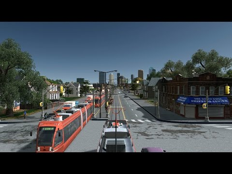 Cities: Skylines Cinematic - First person Tram ride #4
