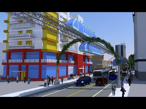 Mini Elevated cTrain - mass transit solution powered by green energy