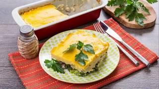 Картофельная запеканка с говядиной под сырным соусом - доставка продуктов с рецептами Шефмаркет