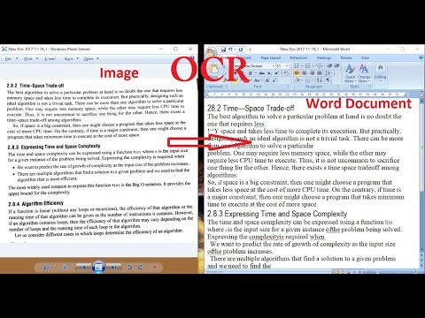 Convert image text to editable test using OCR