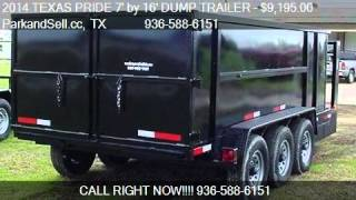 2014 TEXAS PRIDE 7' by 16' DUMP TRAILER Gooseneck Tri-axle f
