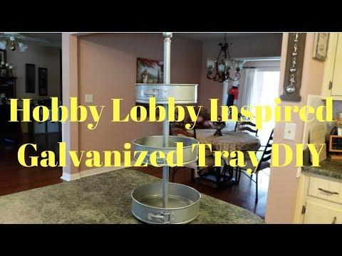 Hobby Lobby Inspired Galvanized Three Tiered Tray DIY | Farmhouse Tray