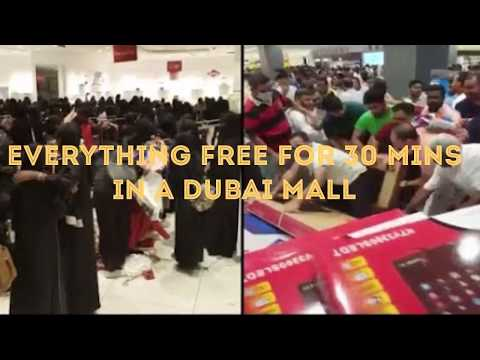 Everything Free for 30 mins in a Dubai Mall
