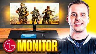 I Played WARZONE On A NEW MONITOR...😍