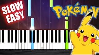 Pokemon Theme - SLOW EASY Piano Tutorial by PlutaX