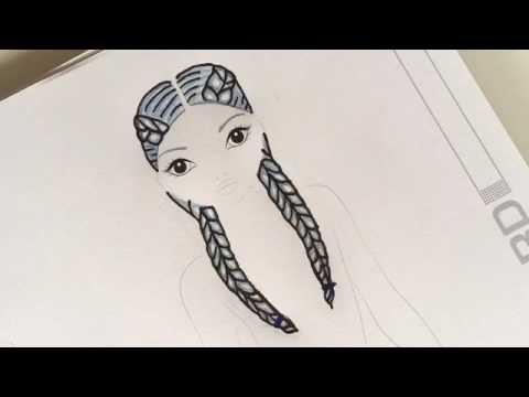 Frisuren zeichnen zopf