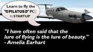 X-Plane 11 : Carenado Pilatus PC-12 : Startup Tutorial