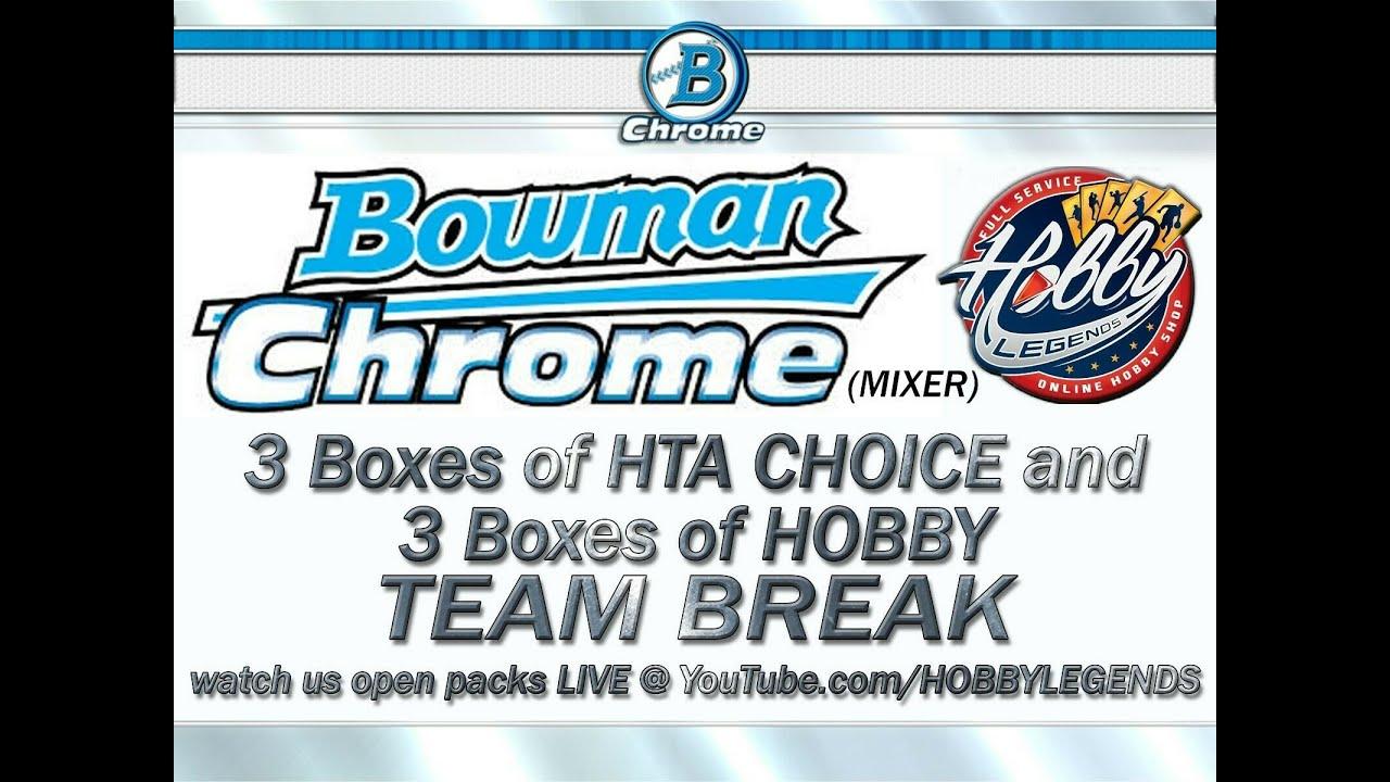 Download 2020 BOWMAN CHROME 6 BOX MIX (3 HTA + 3 HOBBY) TEAM BREAK #46 eBay 09/16/21