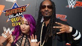 SUMMERSLAM 2017 VLOG DAY 2 : WWE 2K18 RED CARPET Ft. Snoop Dogg
