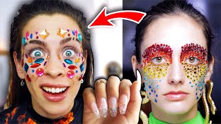 Ich teste CRAZY MAKE UP TRENDS 2021 der Designer!