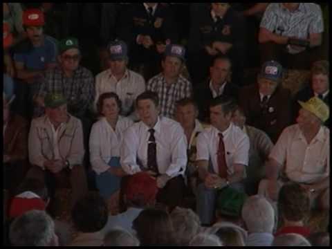 President Reagan visits the Wilkinson Farm Landenberg, Pennsylvania on May 14, 1982