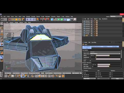 CreativeConcept Project - Space Ship Speed Modeling Cinema 4D