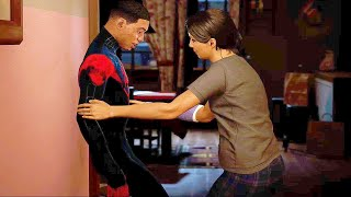 Miles Mother Discovers He is Spider-Man - Spider-Man: Miles Morales