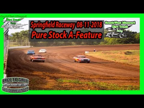 Pure Stock - A-Feature - Springfield Raceway 08-11-2018