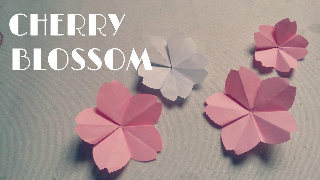 Origami easy origami cherry blossom youtube mightylinksfo