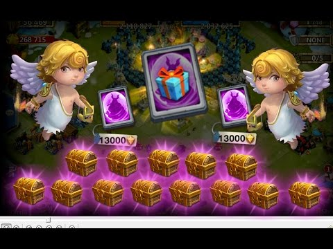 Castle Clash F2P: Opening Special Hero Card, Legendary Hero Card And Mythic Mesa IV Chest